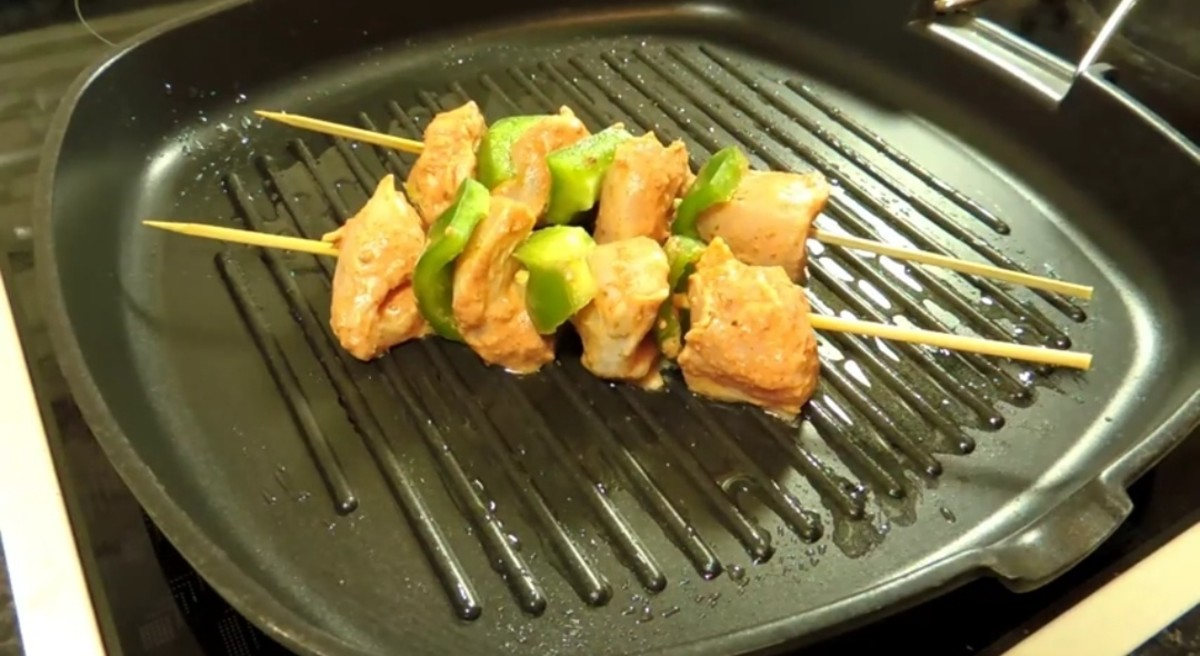 Skewers and cook them for 8-10 minutes