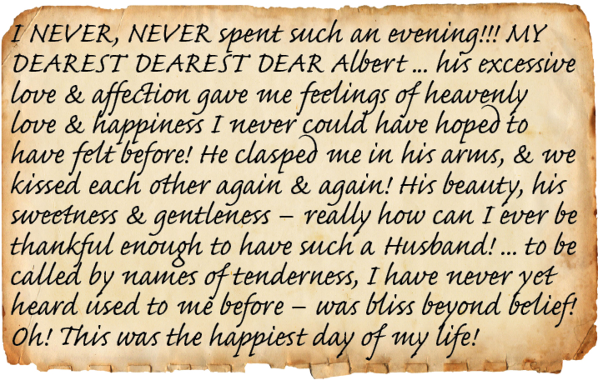 Quote from Victoria's diary