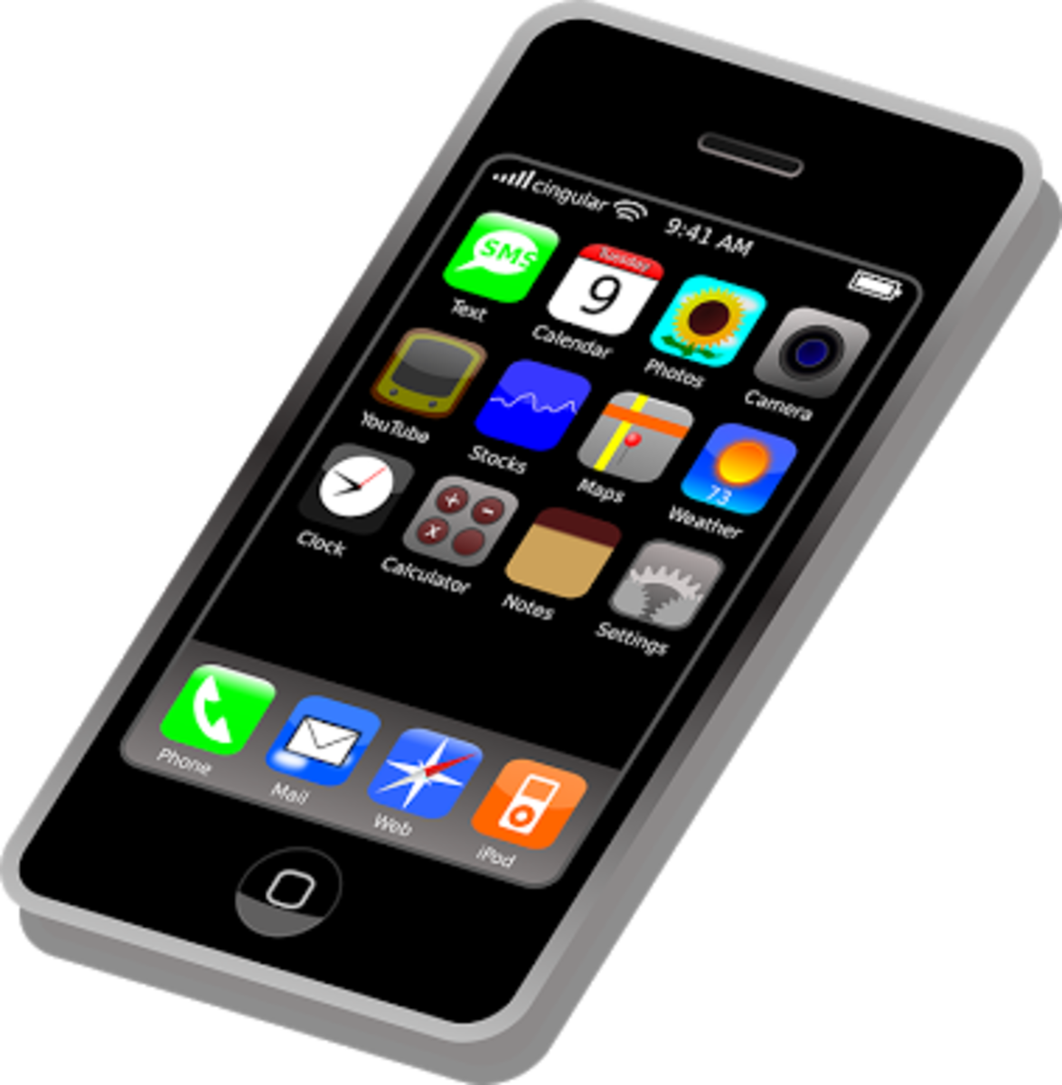 Popular apps on mobile phone
