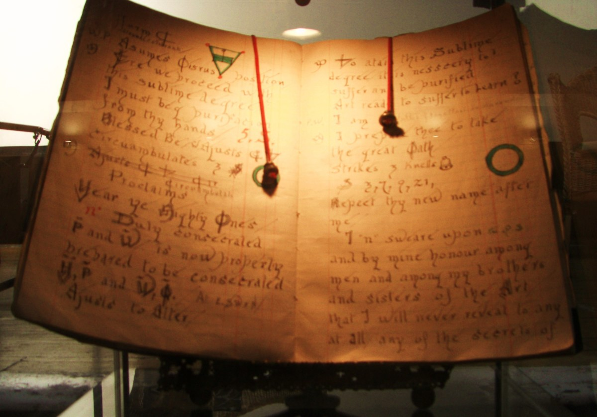 One of the Book of Shadows owned by Gerald Gardner, left in his will to Doreen Valiente, and through her to John Belham-Payne.