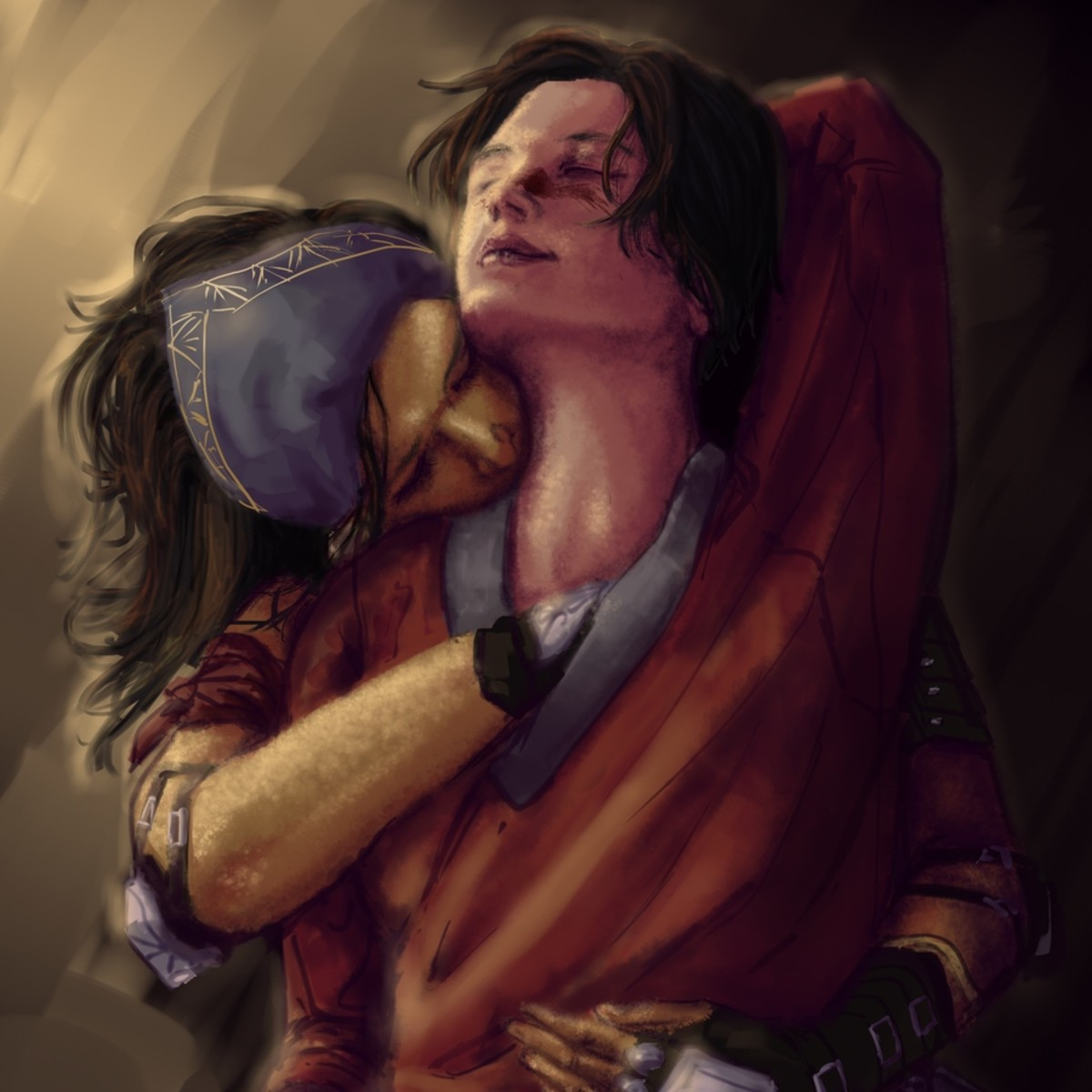 Fan art of Isabela and Marian Hawke.