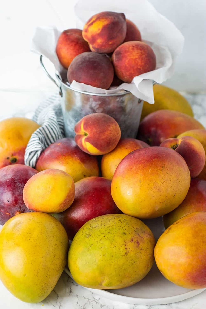 Peaches and Mangos are filled with antioxidants.