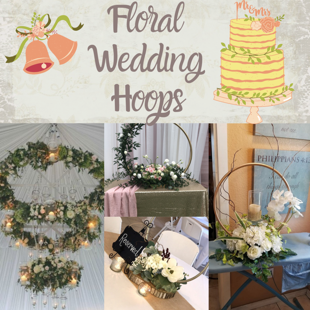 Floral Hoop Wedding Centerpieces