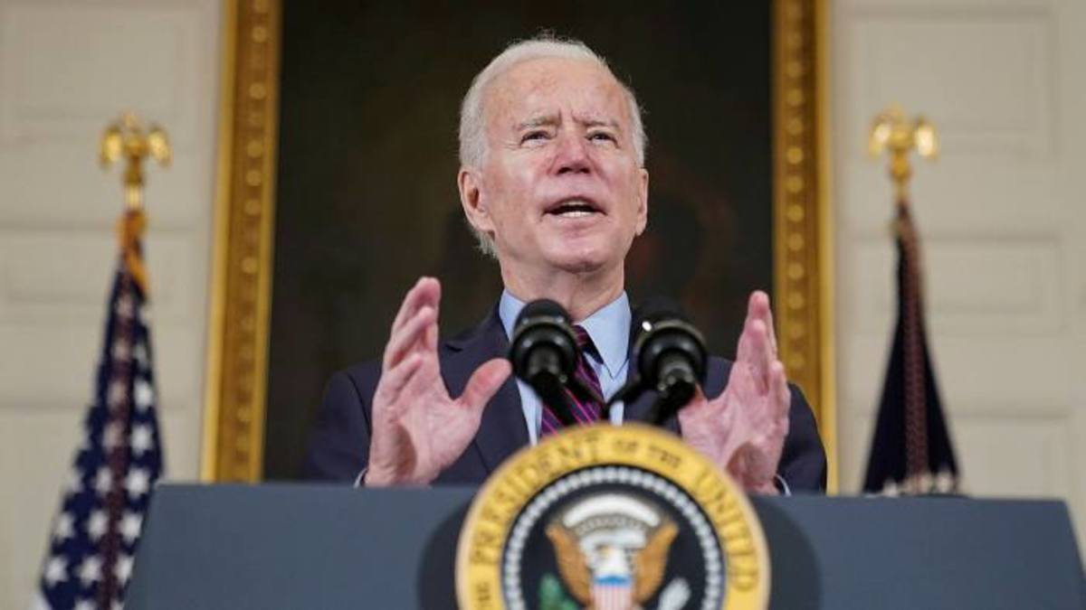 The White House said that Joe Biden would sign the enactment at 1.30pm on Thursday in the Oval Office, a day sooner than recently declared