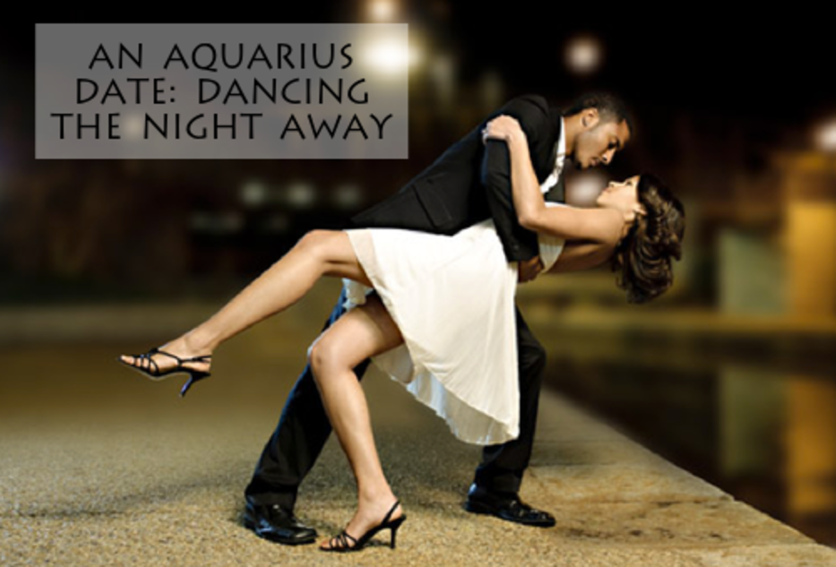 Aquarius might be shy. Aquarius might be sultry. It's a guessing game. Take some dance lessons with your Aquarius and see them open up more.