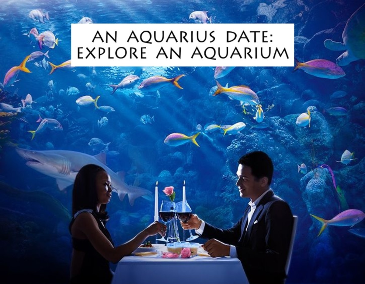The Aquarius will love a romantic dinner at an aquarium. The visuals are mesmerizing. Aquarius has a thing for mermaids, for bright colored fish, and a handsome date.