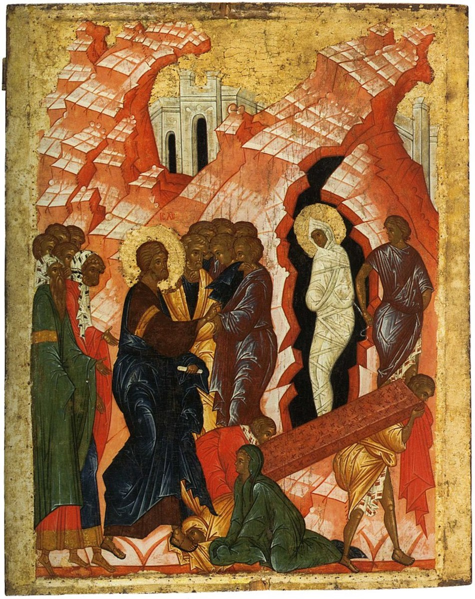 Lazarus raised from the dead