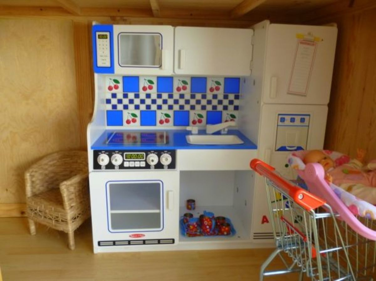 Melissa and Doug kitchen in the play house