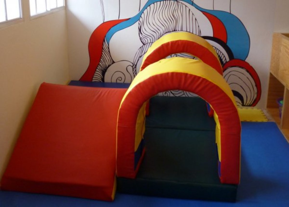 Soft play area for the under 2's.