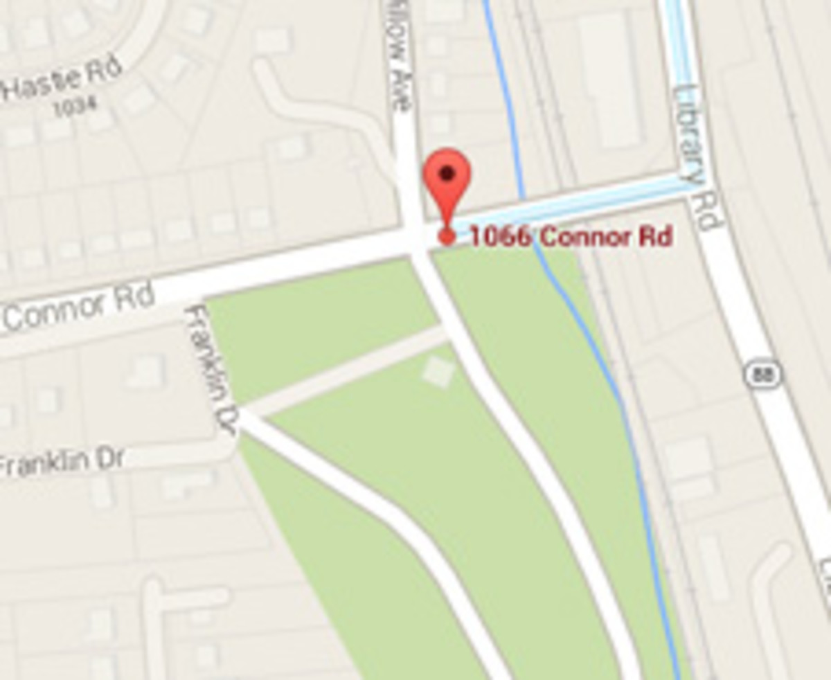 A map to the cemetery where Andy Warhol is buried.
