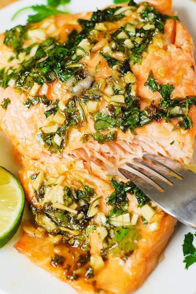 Cilantro lime honey garlic salmon