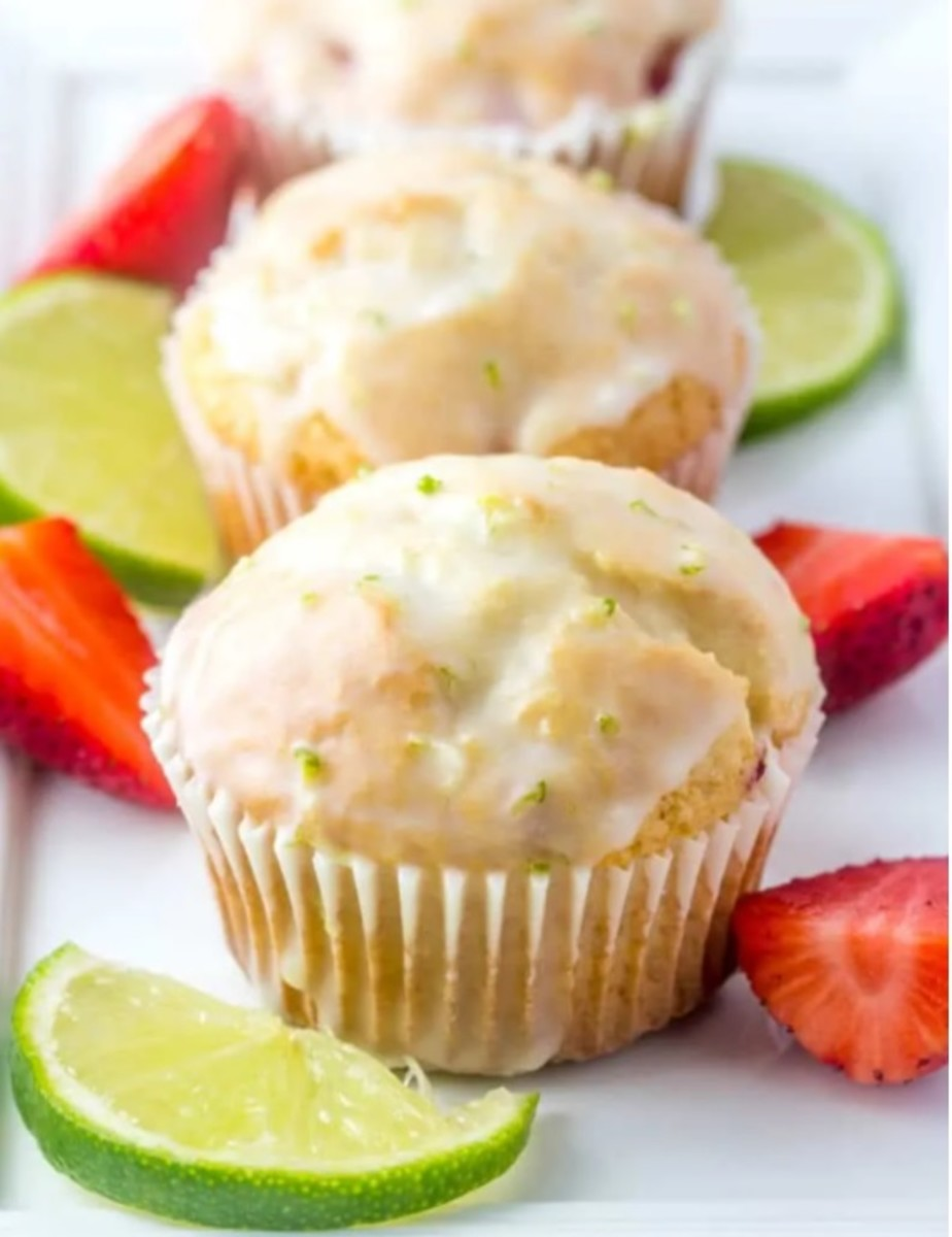 Strawberry lime muffins