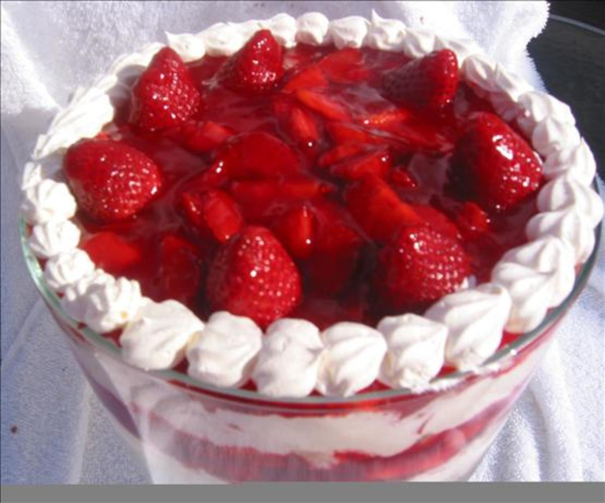 Dessert Recipe: Party Sized / Punch Bowl Strawberry Shortcake