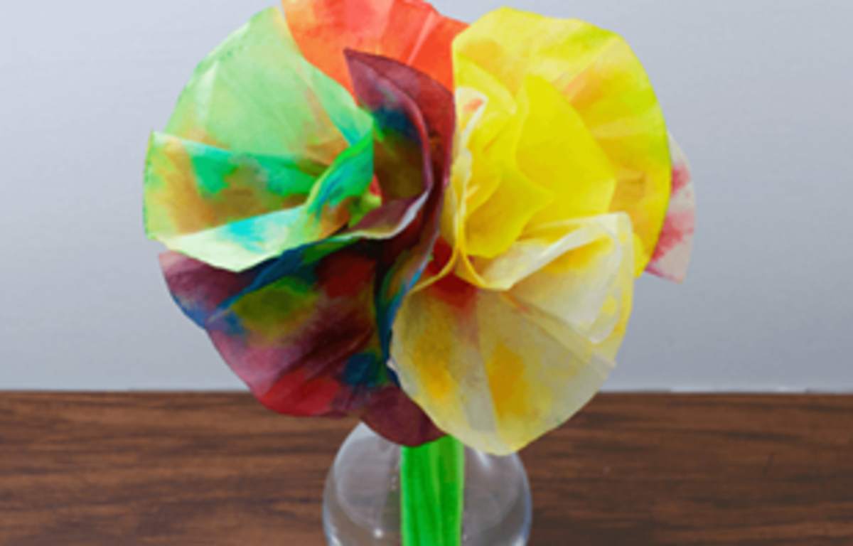 An example of coffee filter flowers.