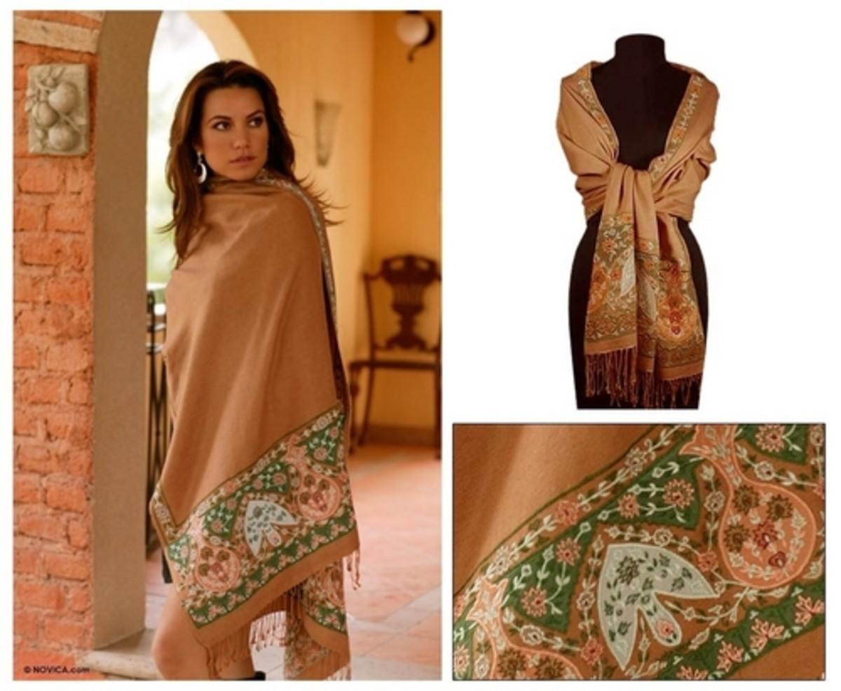 pashmina as a shawl
