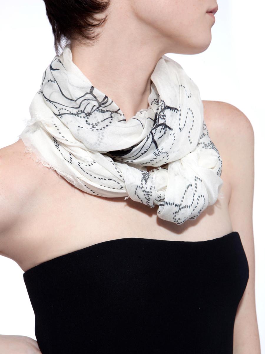 Fashion idea - black and white pashmina