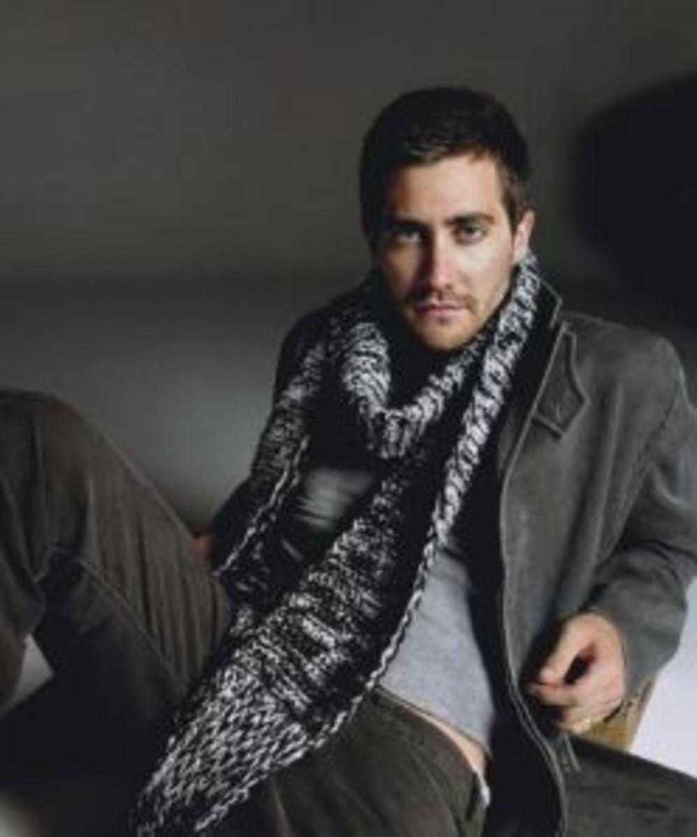 man in pashmina scarf