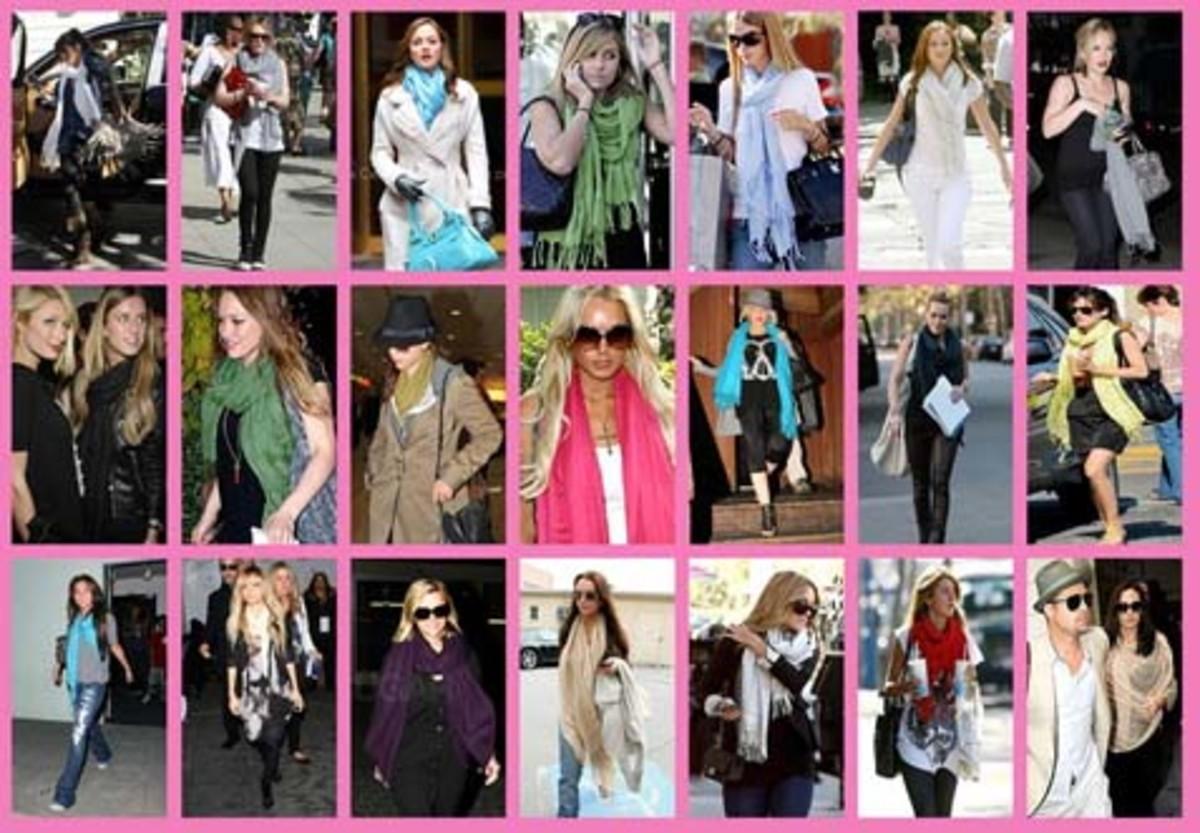 Celebrities Wearing and Pashmina