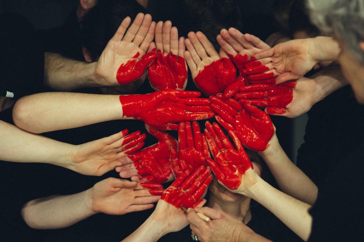 Hands formed together