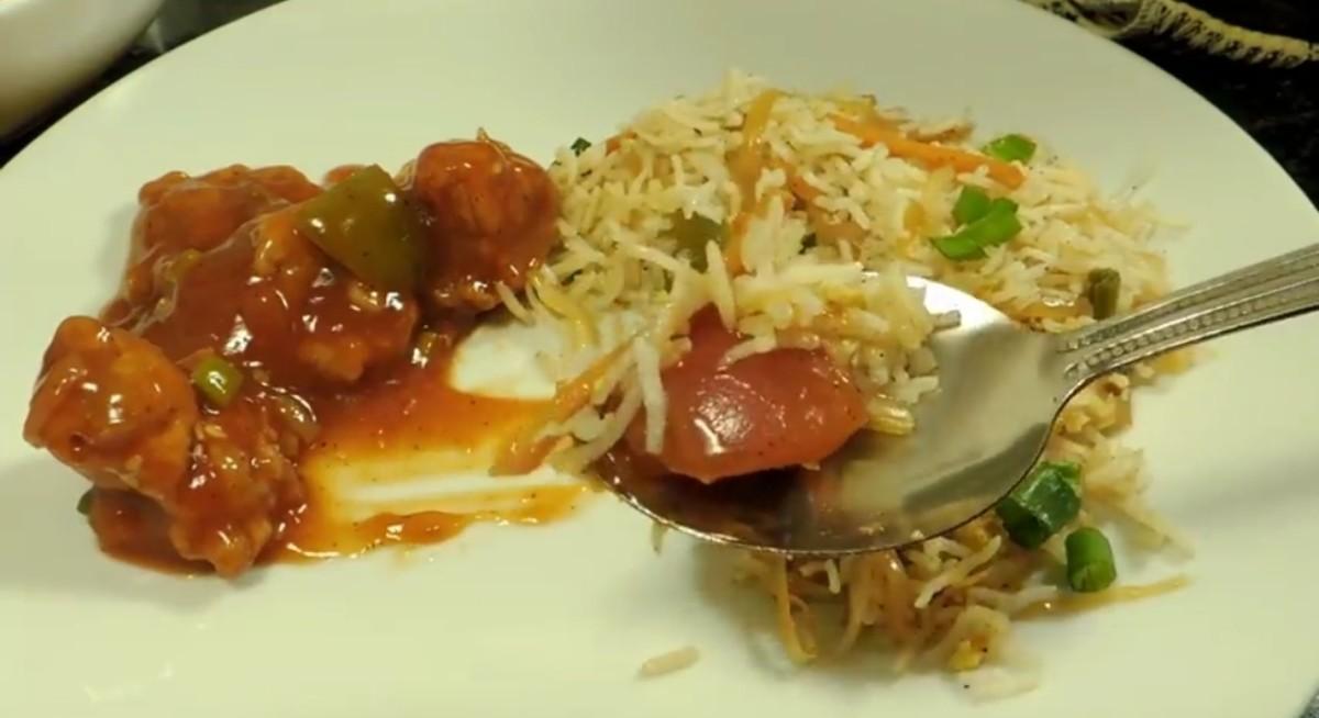 Enjoy with egg fried rice