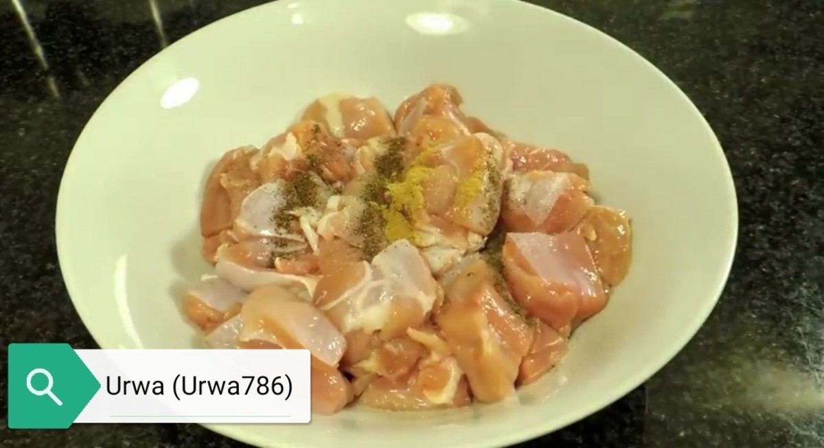 Marinate chicken cubes with all spices