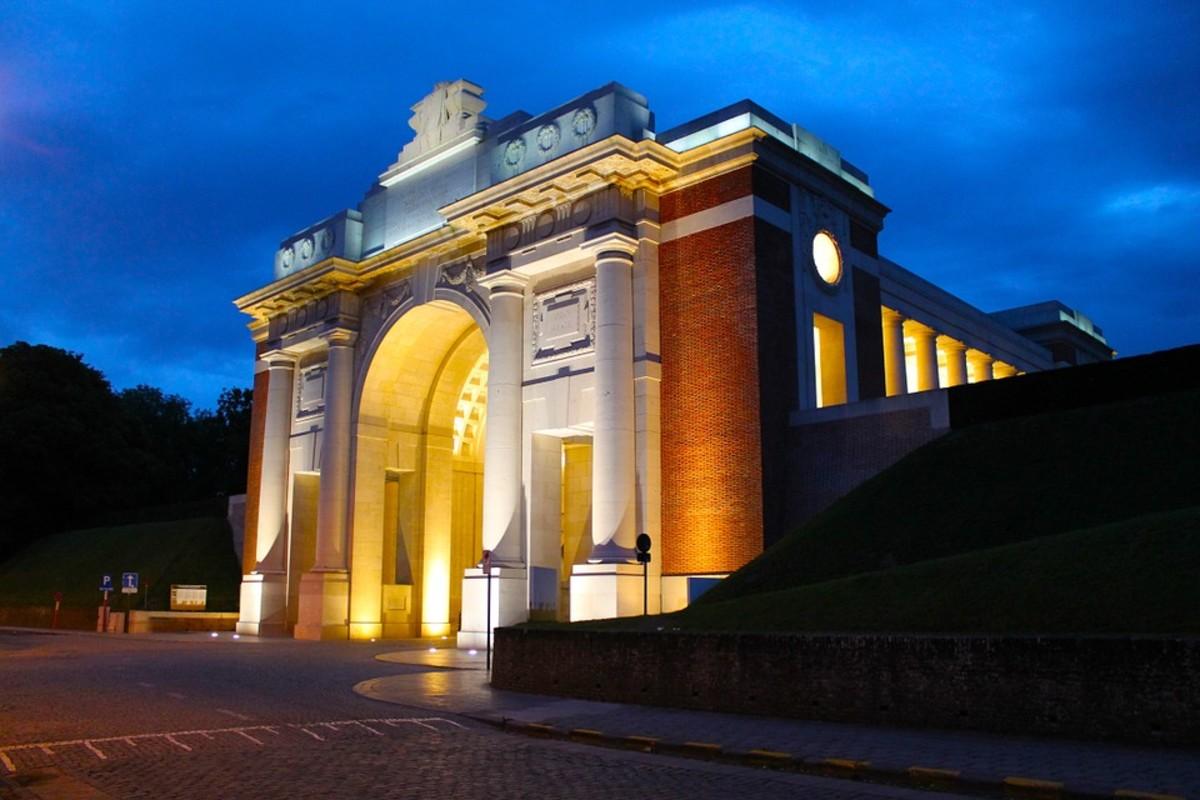 The Menin Gate Memorial.
