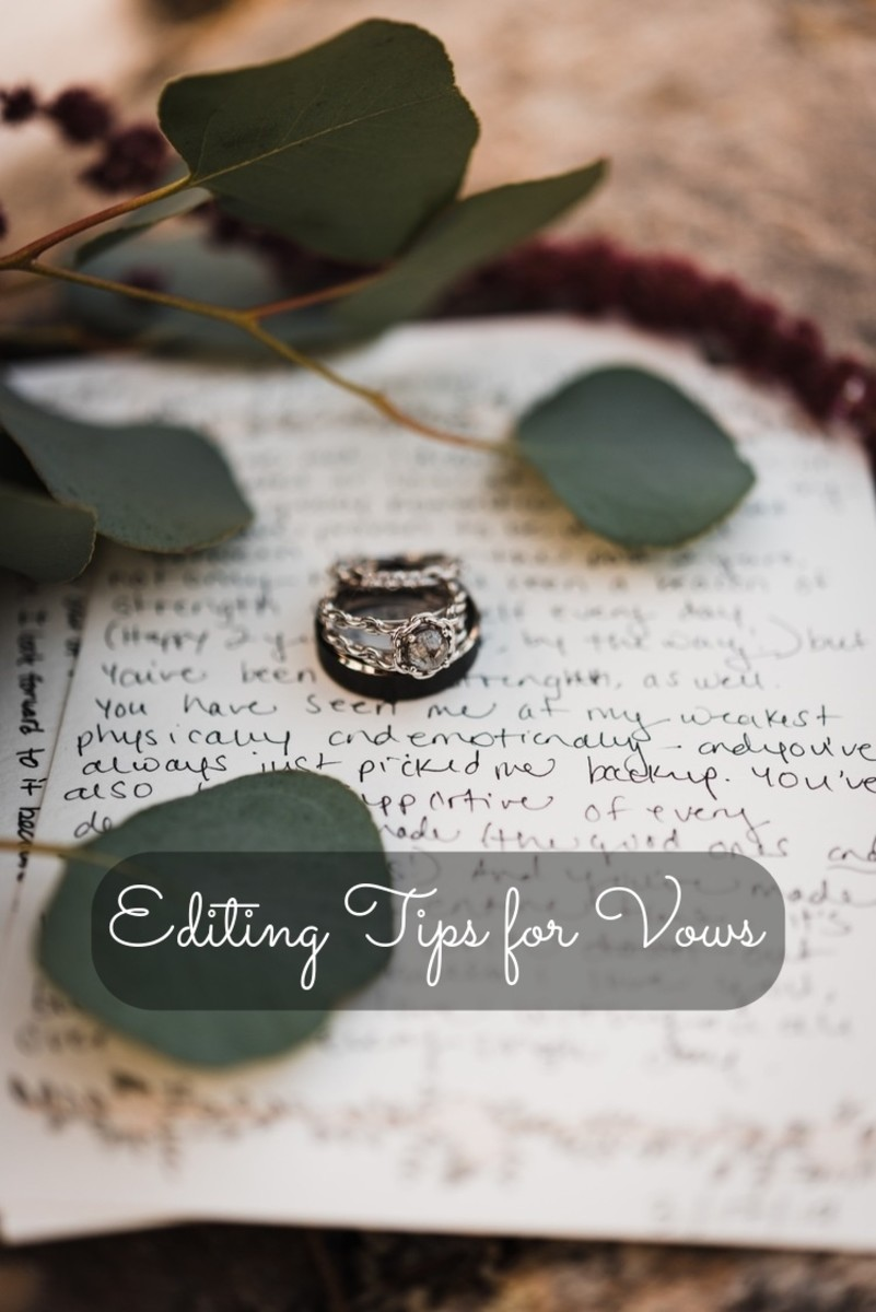You want to give yourself enough time to write your vows so that you have enough time to edit them. If you wait too long, it'll be hard to get them just right.