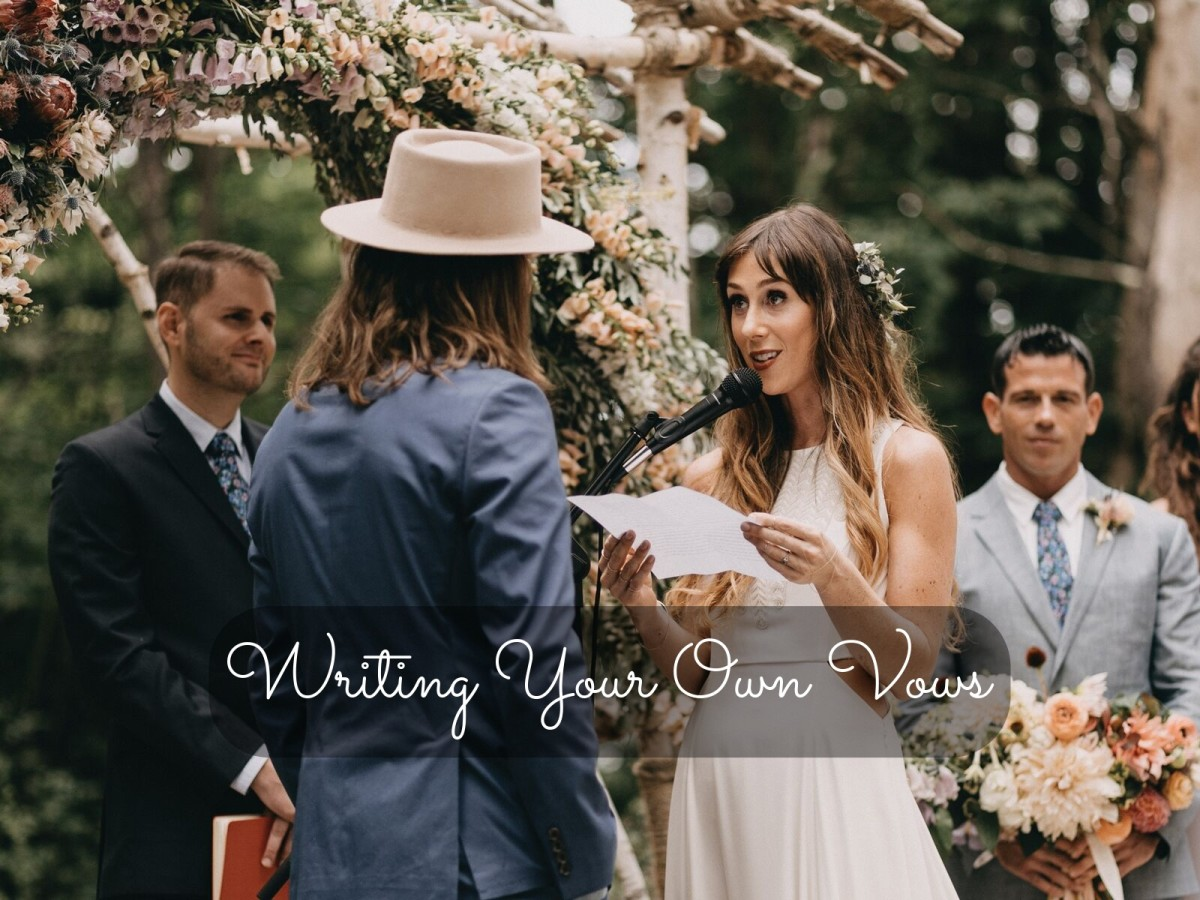 Writing your own vows can add a special touch to your wedding. You get the chance to announce why you're marrying this person and why you love them to your family and friends.