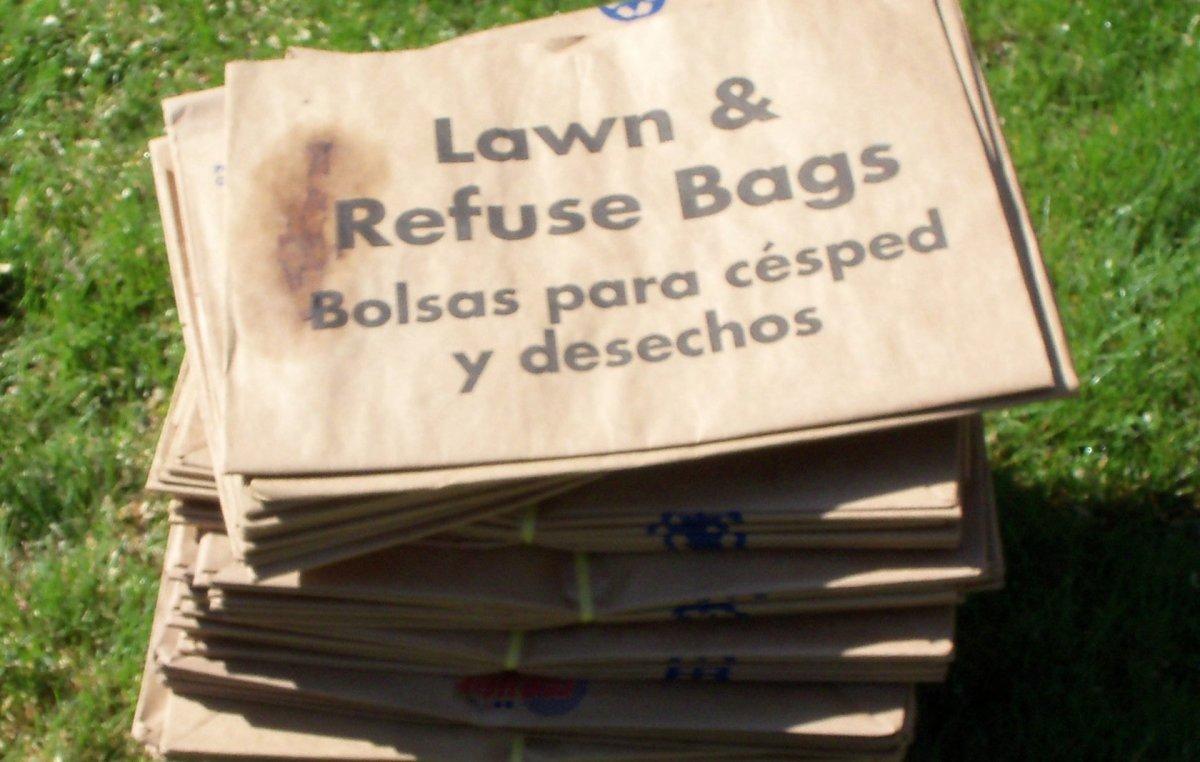 Began using brown paper yard waste bags