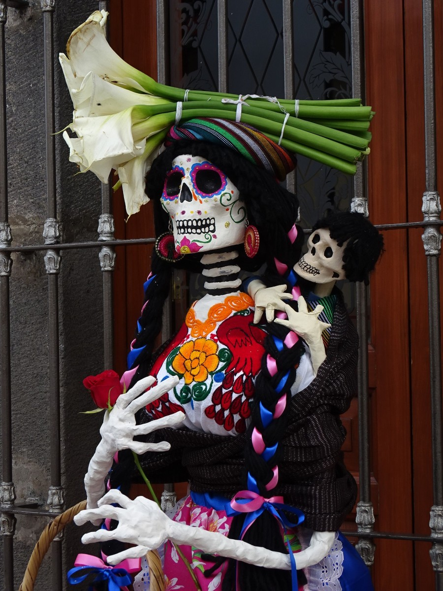 Day of the Dead paper mache figurine.