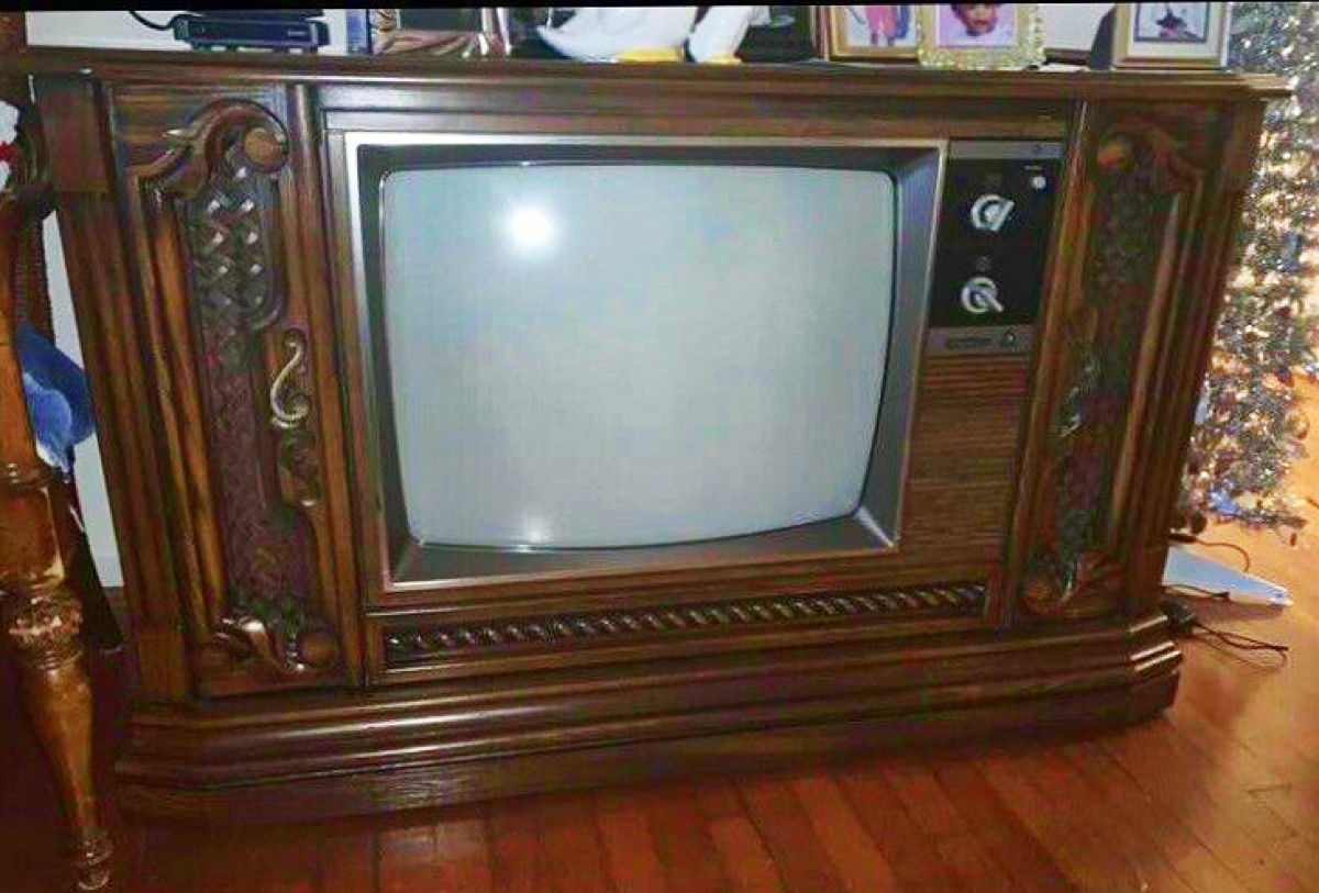 A Sister Console Model Quasar,  Floor Model Television made in the Year 1974
