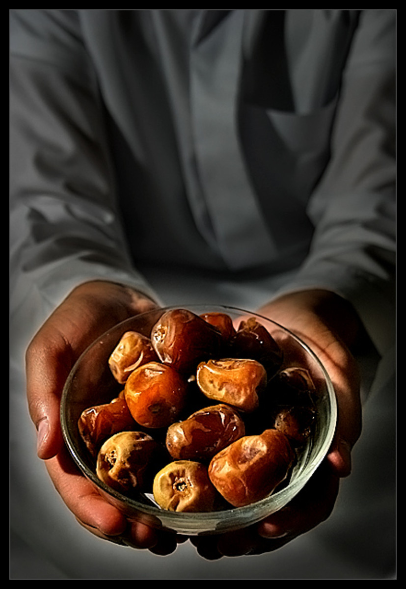 Muslim eat dates to break their fast.