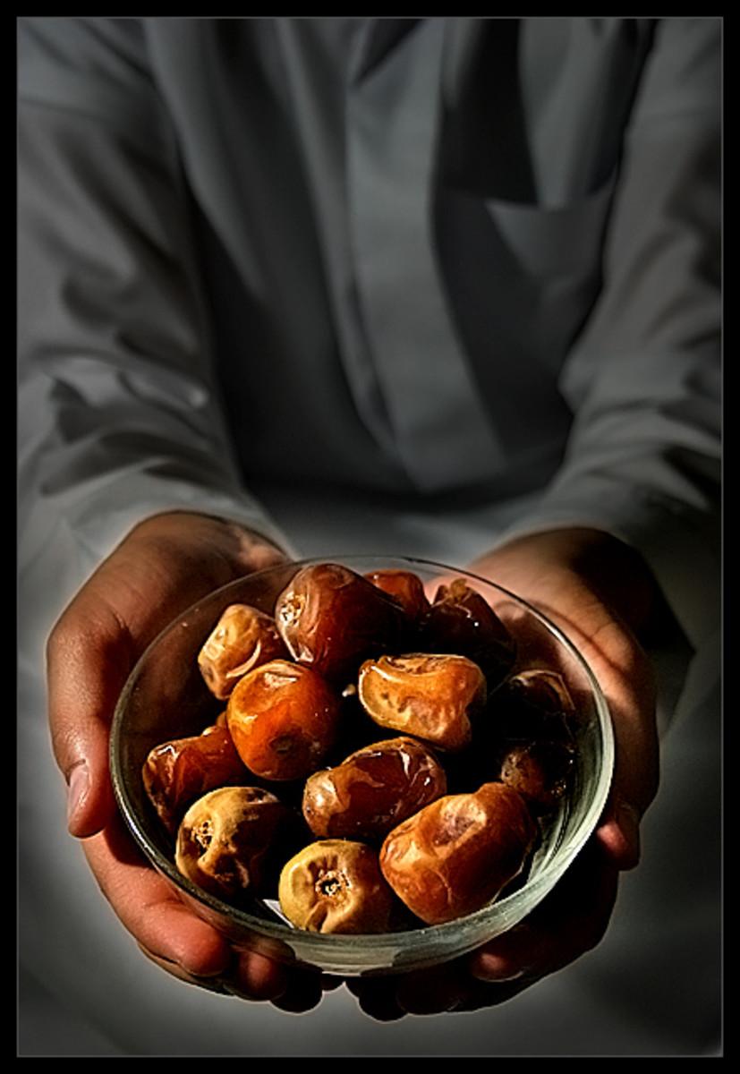 Muslim eat dates to break their fast.