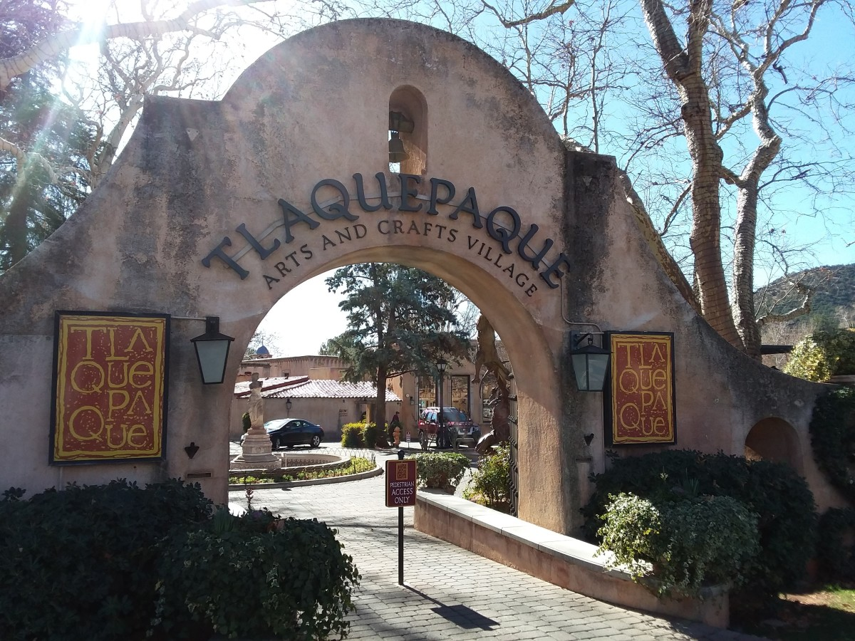 In Sedona Arizona, Tlaquepaque Village: Unique Shopping - Art, Jewelry, and Dining