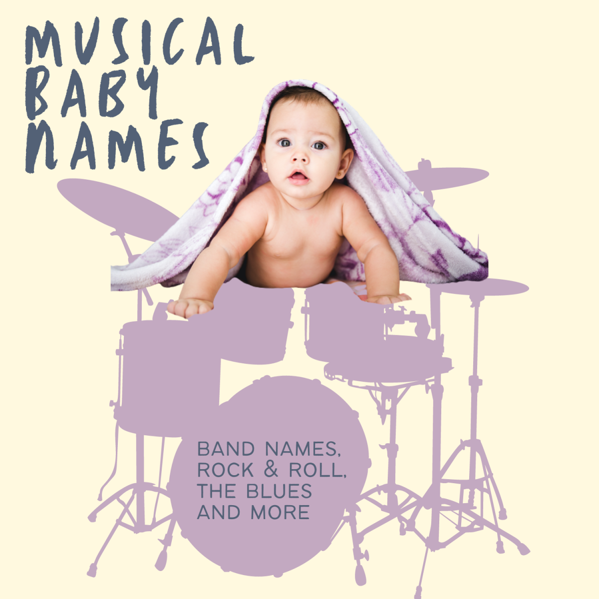 A list of musical, rock, blues, bands, and musical terms that make great baby names.