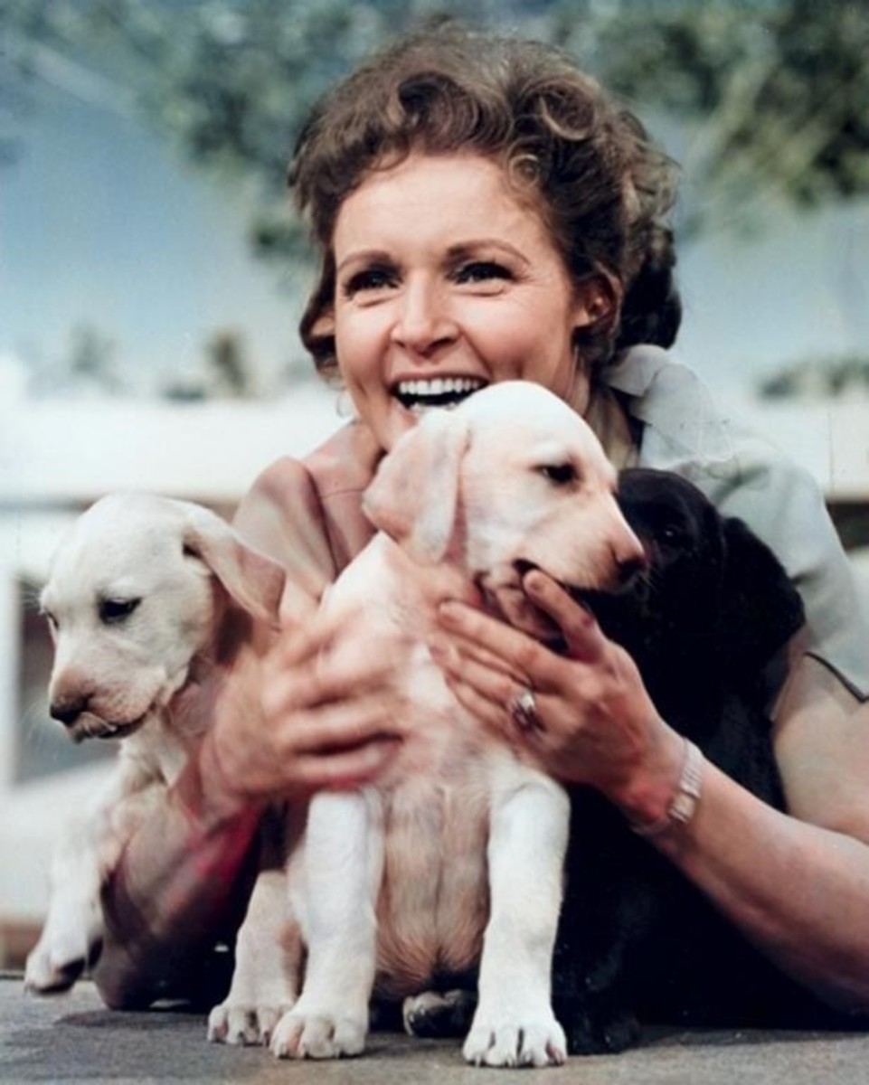 Betty White and Puppies