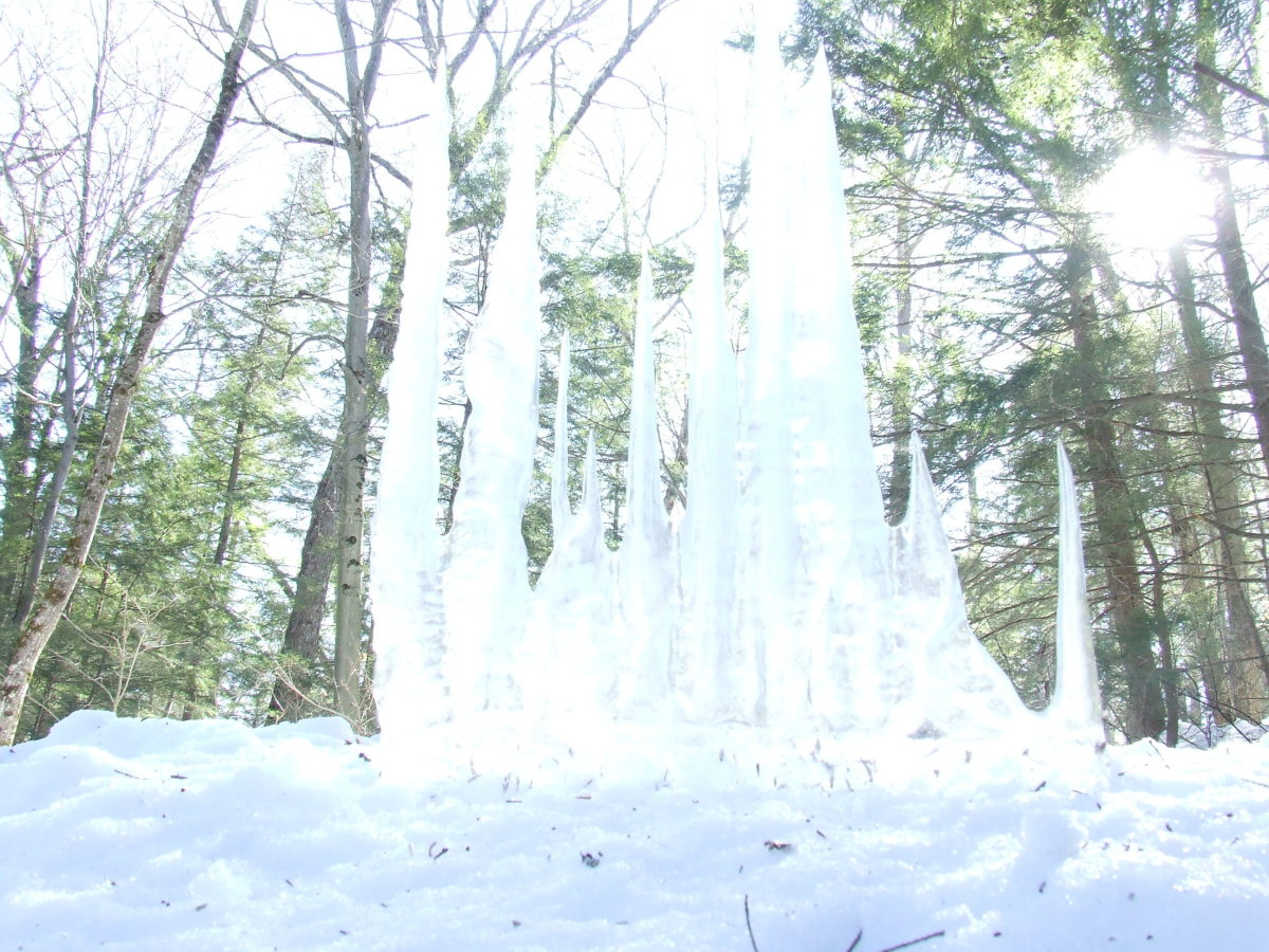 Up-side-down icicles.