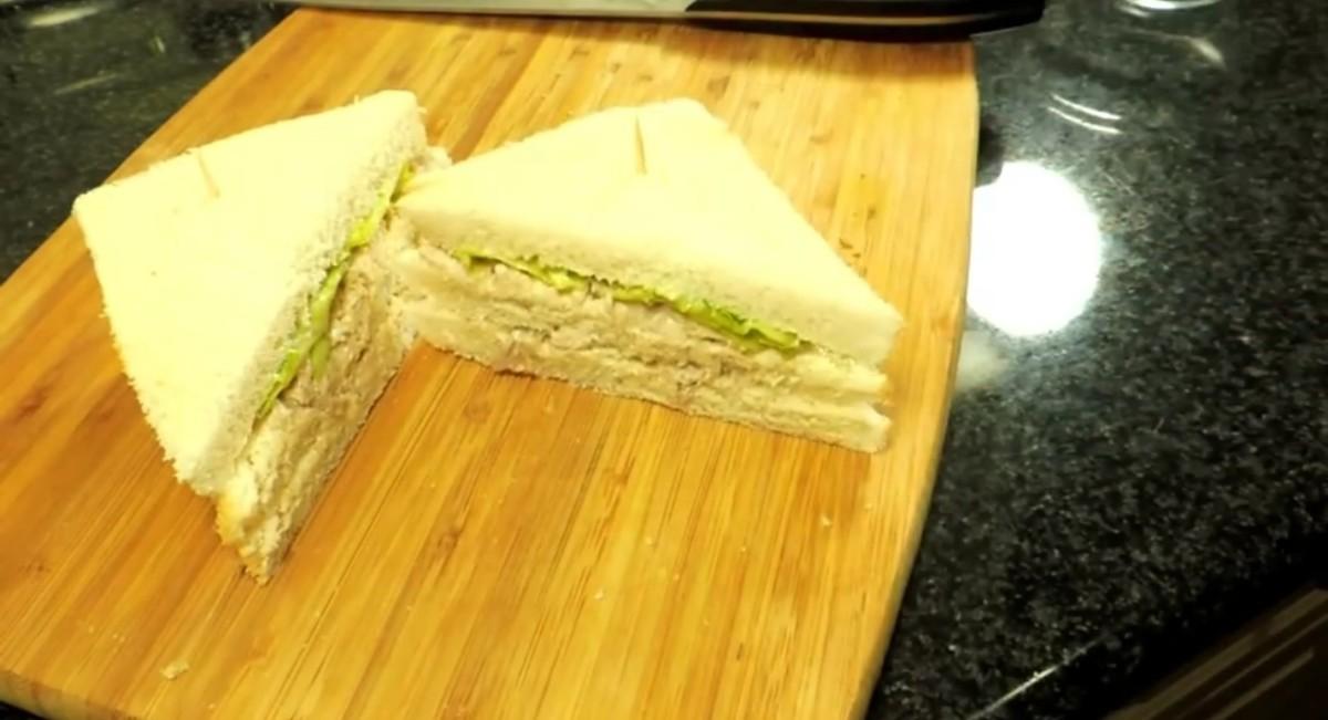 Chicken mayo sandwich is ready