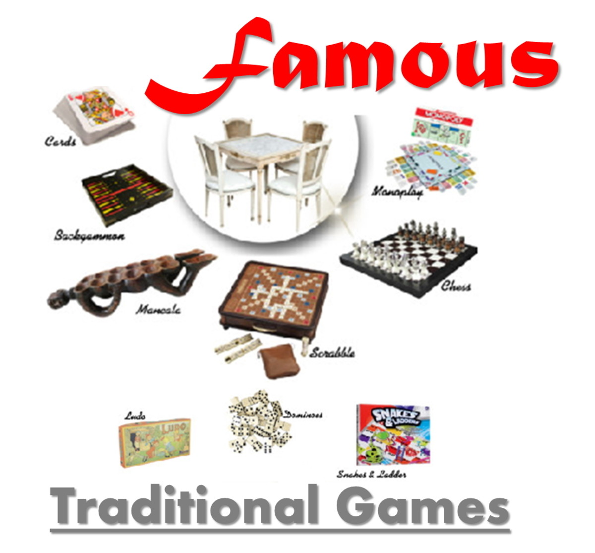 9 Famous Traditional Board, Dice, and Card Games