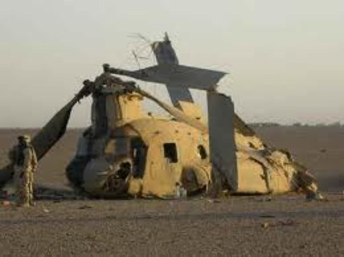 Helicopter crashed during auto rotation