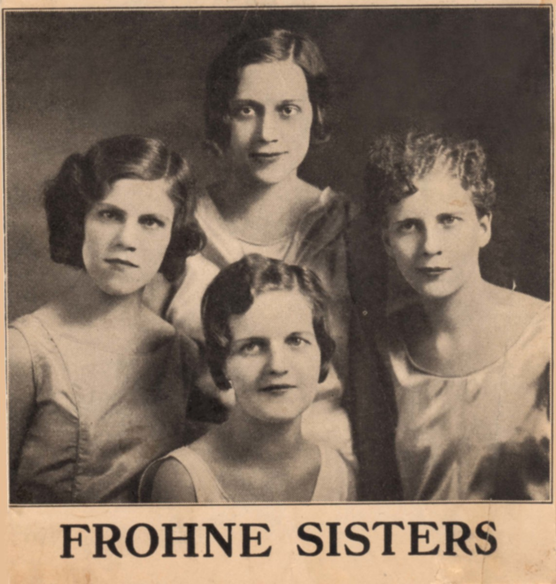 Fabulous Frohne Sisters – Singing Sensation of the Roaring 20s