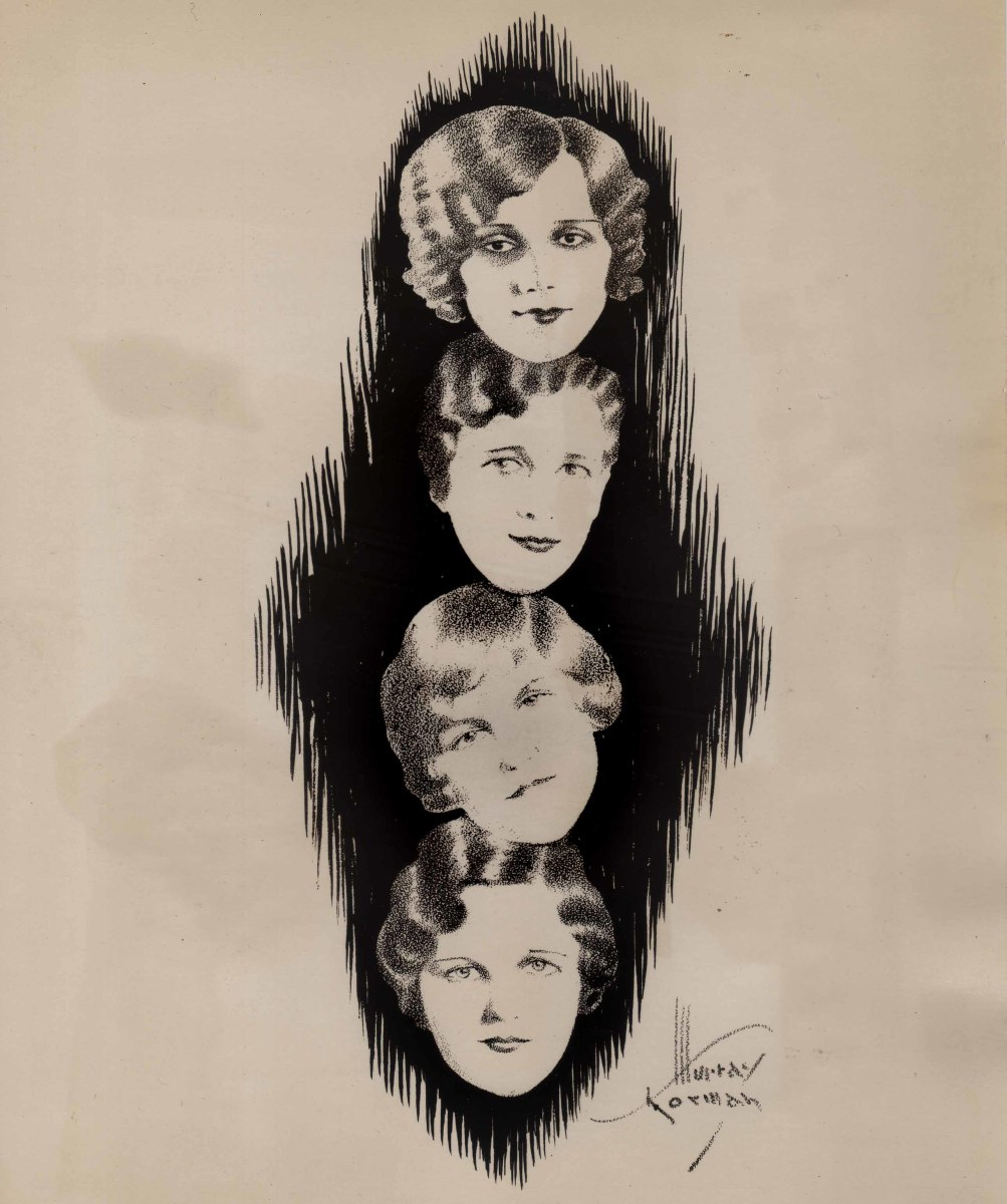 One of the images the Frohne sisters commissioned in the 1920s to publicize themselves (Murray Korman artist). Purchased on eBay.