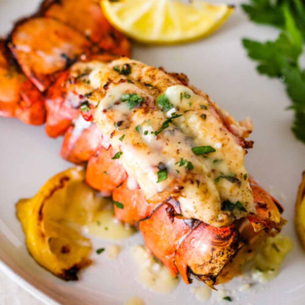 Lobster Tails with Garlic Lemon Butter