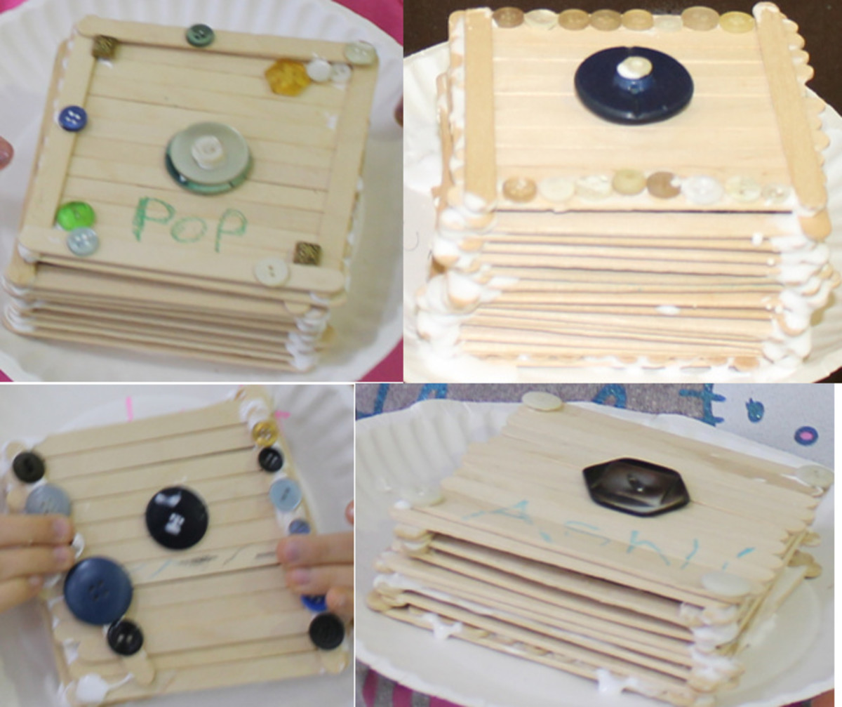 Craft Stick Treasure Boxes