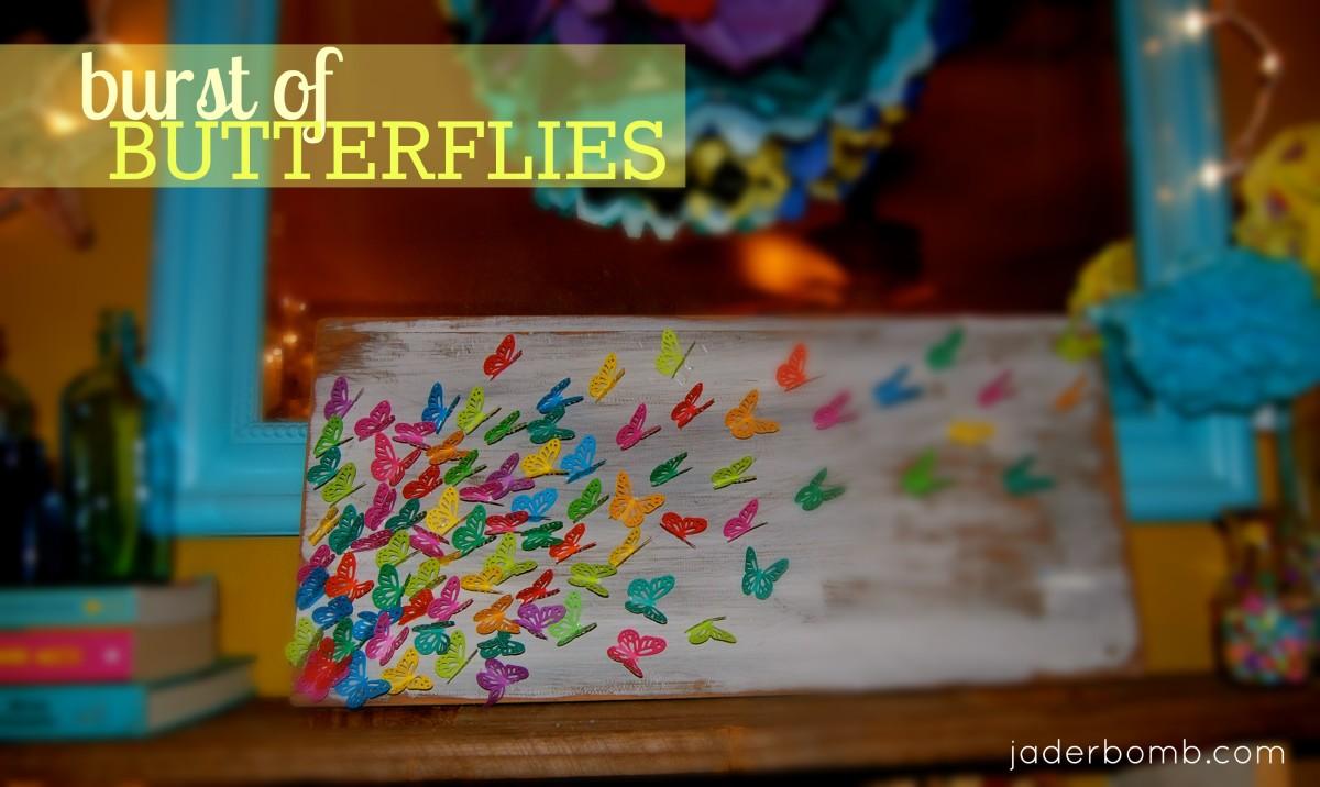 Burst of Butterflies Art, great as a gift