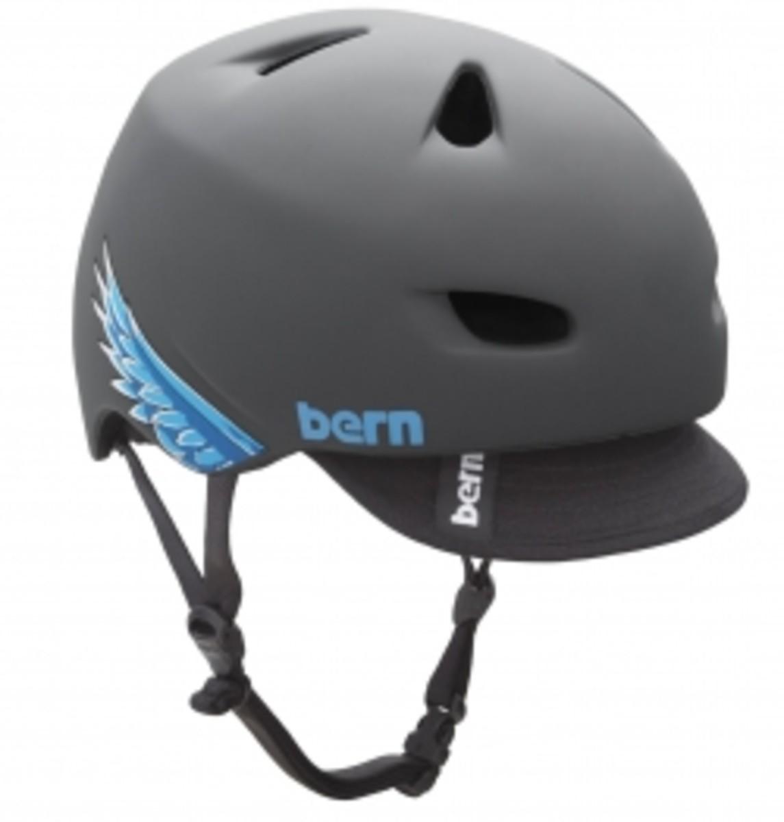 Bern bike helmets look like baseball caps