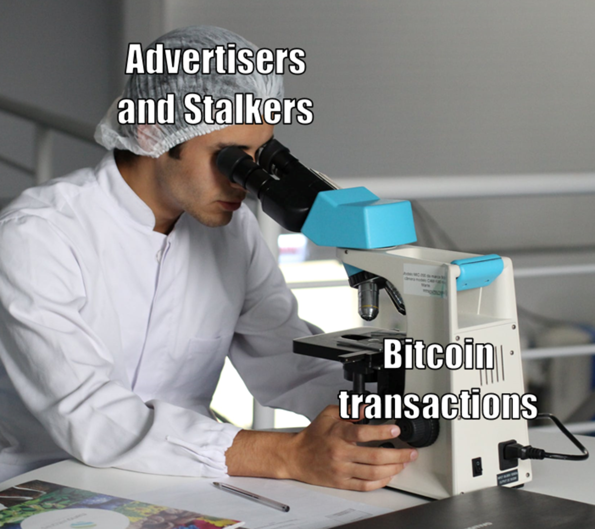 Bitcoin may be anonymous, but it's not private.