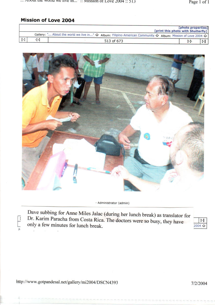 The author serving as an interpreter for our non-tagalog speaking doctors from abroad. 2004