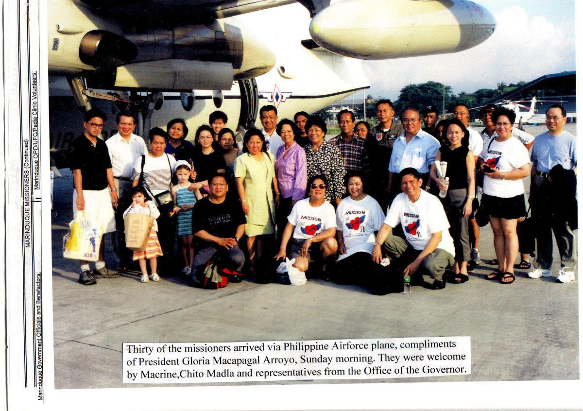 Macrine and I welcomed Missioners from USA and Canada, 2001