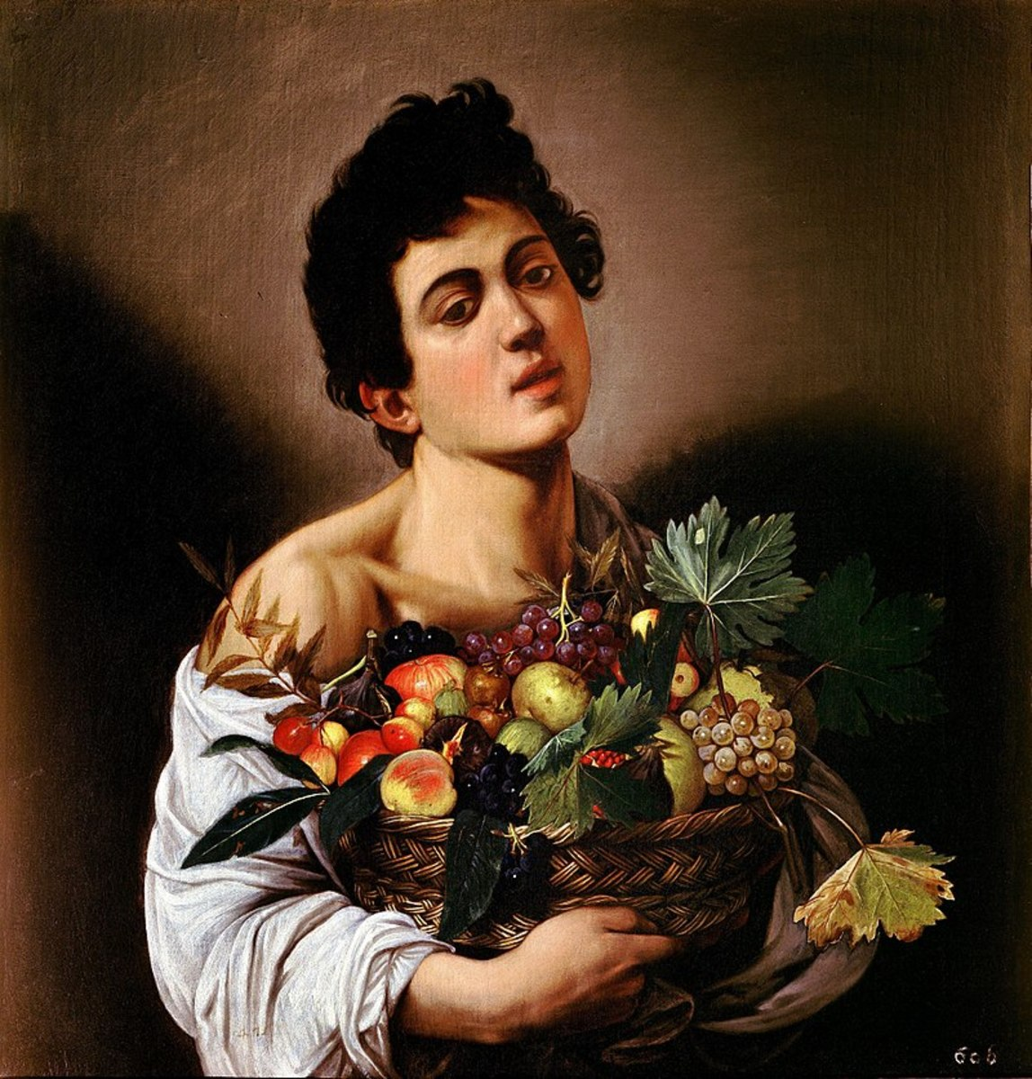Medlars are seen in the centre of this Caravaggio painting from 1593.